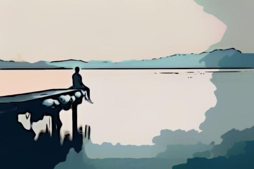 soledad hombre dibujo