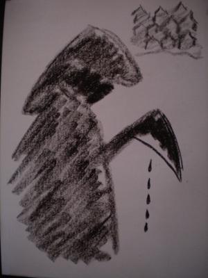 La tristeza con manos de hierro.